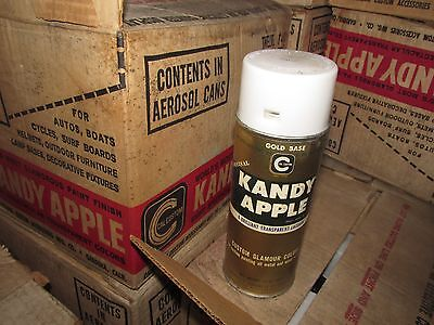 Vintage Kandy Apple Spray Paint Can Gold Base Coat  Paper Label Cal Custom