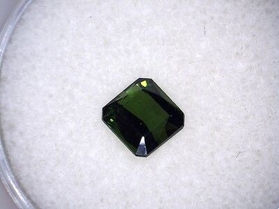 GLEAMING! 1.17 ct.NATURAL GEM! TOP FOREST GREEN TOURMALINE UNHEATED NICE!