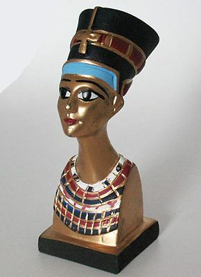"""6""""  Hand Carved Egyptian Artificial Stone sculpture of Queen Nefertiti #961"""
