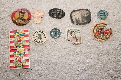 Lot of 10 Paper Tobacco Tags Lot #7