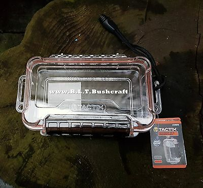 Waterproof Box For Fire Lighting Kit Papers Survival Bushcraft Fishing Equipment