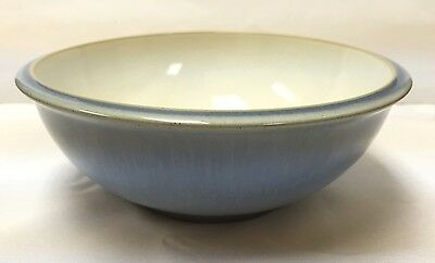 """Denby Blue Jetty Cereal/Soup Bowl """"White"""" - Brand New - Discontinued Item"""
