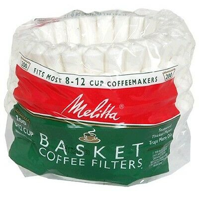 Melitta 629524 8 -12-Cup White Basket Coffee Filters,  200-Count