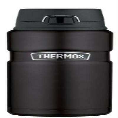 Thermos Stainless King 24 Ounce Drink Bottle Matte Black Cool To The Touch Stain