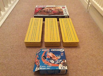 Vintage & Modern Meccano - Yellow Storage Containers / Boxes X 3 - Sets