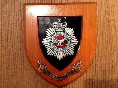 Air Force Fire Service Wall Plaque       Rare Vintage
