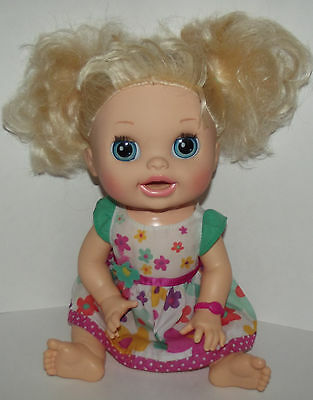 Baby Alive 2012 Real Surprises Interactive Blonde Doll Bilingual English Spanish