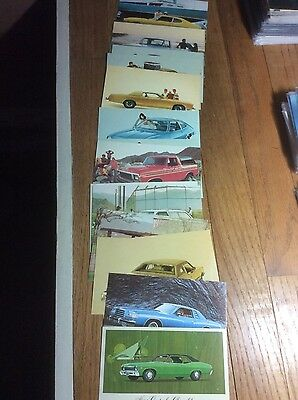 1970s Automobile (17) Postcard Lot Ford Chevy Capri Cars