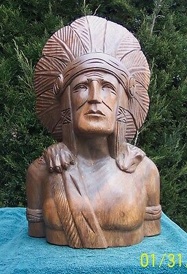 24 in Cigar Store   Indian  #24b801  Hand Carved