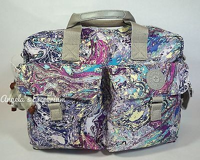 KIPLING NEW BABY Nursery / Diaper Bag with Changing Mat Marble Multi