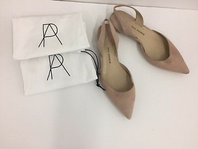 AUTHENTIC Rhea Point Toe Slingback Ballerina Flats Nude Pink Rose Suede