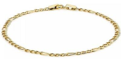 9ct YELLOW Solid GOLD Anklet 23cm/9 Inch UK + FREE Gift