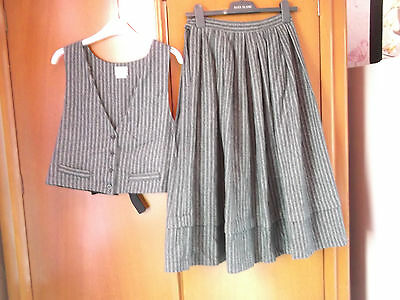 1980s vintage suit waistcoat and skirt size 10/12