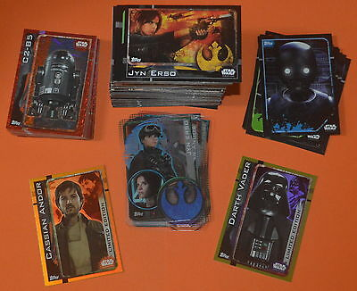 Topps Star Wars Rogue One Trading card FULL SET (212 Cards) with 2 LTD