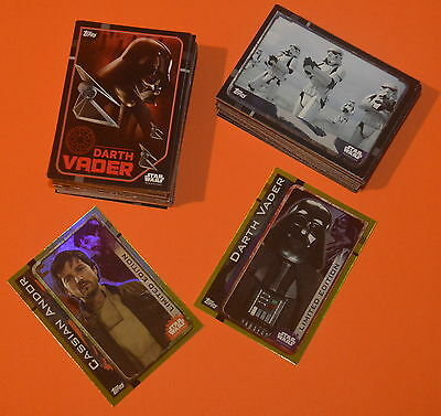 Topps Star Wars Rogue One Trading card BASE SET (160 Cards) + 2 Limited Edition