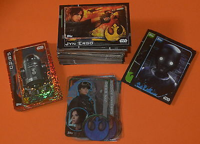 Topps Star Wars Rogue One Complete SET (212 Cards) inc Plastic, Sticker, Foil