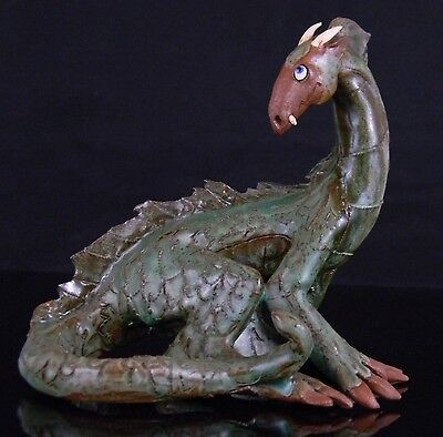 Extremely Rare 1902 EXQUISITE  Chinese Handcrafted Ceramic Dragon Art Sculpture