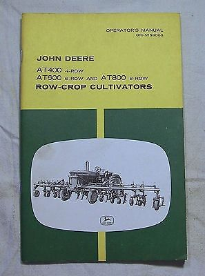 John Deere  MANUAL OM-N159066 AT400 AT600 AT800 Row-Crop Cultivators