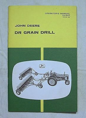 John Deere OPERATOR'S  MANUAL OM-M34 Issue B8 DR Grain Drill