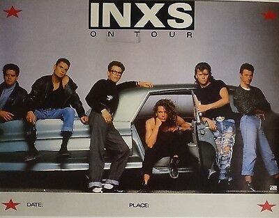 Inxs Kick 21x27 On Tour Music Promo Poster 1988 Michael Hutchence