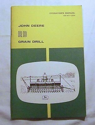 John Deere OPERATOR'S MANUAL OM-M7-1254 RB Grain Drill
