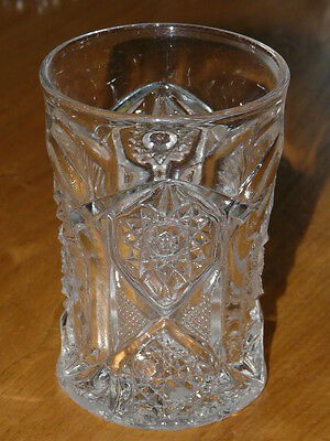 Vintage Cut Glass Pinwheel Glass  - 4'' 1/4 inches tall