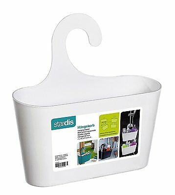Shower Basket White with Hook Hanging Caddy Organizer Plastic