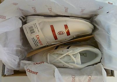 DEXTER KOLORS Youth Bowling Shoes 2 M D White Red Blue New in Box NIB Shoe