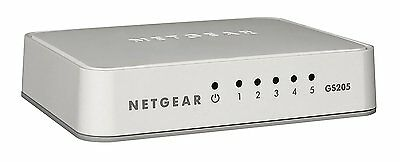 NETGEAR GS205-100UKS 5 Port Gigabit Ethernet Desktop Switch