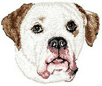 American Bulldog Portrait  embroidery Patch (aa)