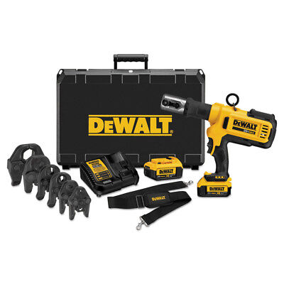 DEWALT 20V MAX Lithium-Ion Press Tool Kit w/ Crimping Head Set DCE200M2K new