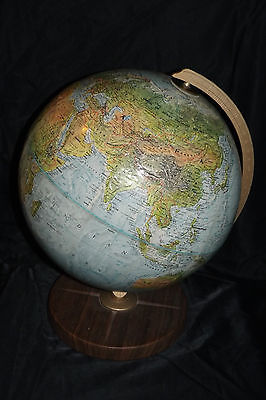 "Replogle - The World Book Globe - 15"" H - Raised - USSR - Vintage"