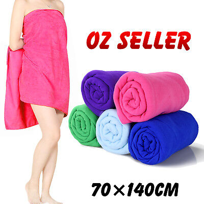 Microfiber Towel Gym Sport Footy Travel Camping Swimming Hiking Microfibre