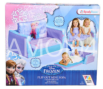 Disney Frozen Elsa Anna Sisters Girls Inflatable Flip Out Sofa Bed *New