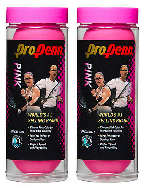 HEAD Pro Penn Pink racquetballs 6 balls (two cans)