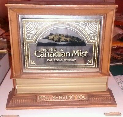 Imported Canadian Mist. Canadian Whisky. Wooden Sign
