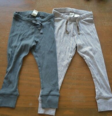 H&M organic cotton pants leggings two pairs - brand new