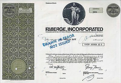 Faberge Incorporated, Minnesota, (5.000 Shares) not issued