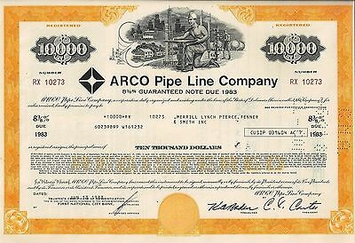 Arco Pipe Line Company, 1983, 8 3/8%  Note due 1983 (10.000 $)