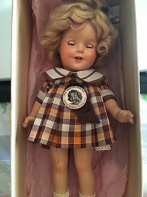 "SHIRLEY TEMPLE 13"" IDEAL COMPOSITION DOLL 2013, ORIGINAL Box, pin"