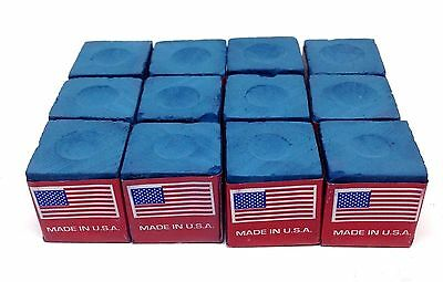 12x MASTER BILLIARD TABLE CHALK POOL SNOOKER CUE TIP BLUE FREE SHIPPING