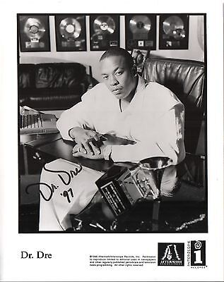 Dr. Dre hand signed autographed 1997 Aftermath promo photo RARE
