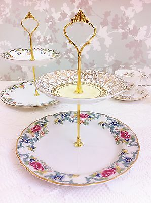 2 Tier Cake Stand, Floradora, Booths, Doulton, Victoria,  Majestic