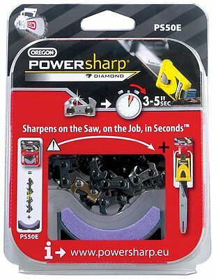 OREGON PS55E 55 Drive Links Powersharp Chainsaw Chain with Sharpening Stone