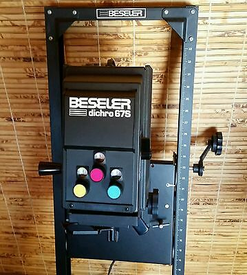 Beseler Dichro 67s Color Photo Enlarger , Darkroom Printing Photography