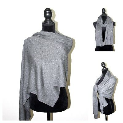Scarf 100% Cashmere Shawl Knit Wrap Blanket Pashmina Soft Warm Mens Ladies Gift