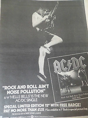 """Ac/dc  """"rock N Roll Aint Noise Pollution""""  1980 Single Advert From Back In Black"""