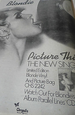 "Blondie Original  Advert From 1978 ""picture This"" A3 Size"