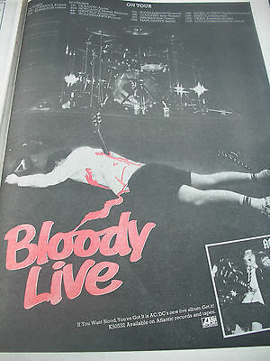 """Ac/dc """"if You Want Blood""""  Album & Tour Dates Advert From 1978"""