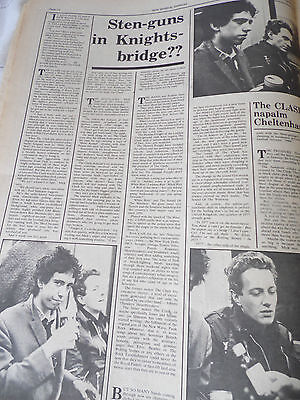 """The Clash """" Napalm Cheltenham"""" 1977 Two Page With Pics...debut Album And Gigs"""